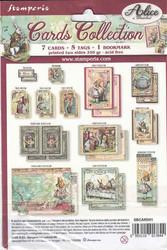 Stamperia Cards Collection -leikekuvat Alice In Wonderland