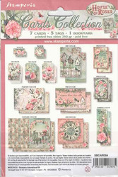 Stamperia Cards Collection -leikekuvat House of Roses