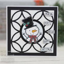 Woodware leimasin Festive Fuzzies, Mini Snowman