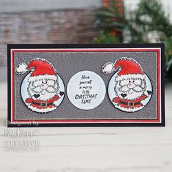 Woodware leimasin Festive Fuzzies, Mini Santa
