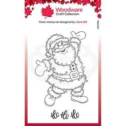 Woodware leimasin Festive Fuzzies, Santa