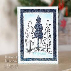 Woodware leimasin Winter Trees