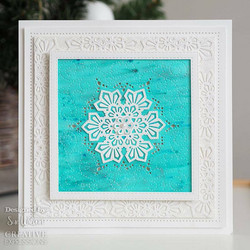 Creative Expressions stanssi Layered Snowflake Background