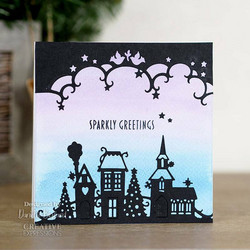 Creative Expressions stanssi Christmas Town Double Edger