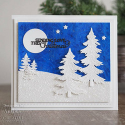 Creative Expressions stanssi Winter Pines