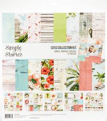 Simple Stories Simple Vintage Coastal -paperipakkaus, 12