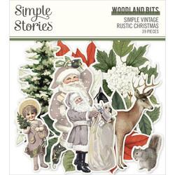 Simple Stories Simple Vintage Rustic Christmas Woodland Bits, leikekuvat