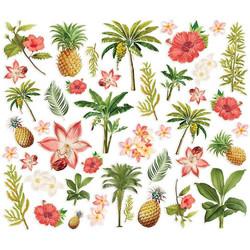 Simple Stories Vintage Coastal Floral Bits, leikekuvat
