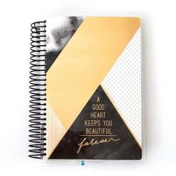 Paper House Mini kalenteri, päiväämätön, Black and Gold Geometric