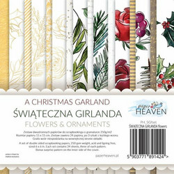 Paper Heaven paperipakkaus Christmas Garland Flowers