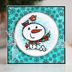 Woodware leimasin Snowflake Flurry