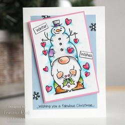 Woodware leimasin Snow Gnome