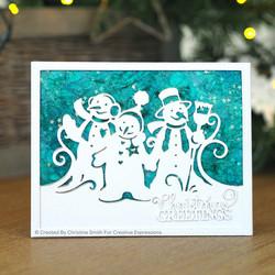Creative Expressions stanssi Three Little Snowmen Edger
