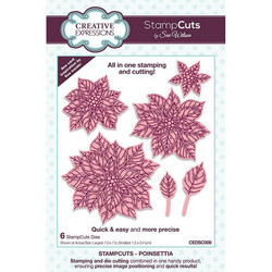 Creative Expressions leimaava stanssi Poinsettia StampCuts