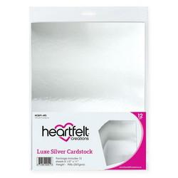 Heartfelt Creations Luxe Metallic Cardstock -peilikartonki, sävy Silver