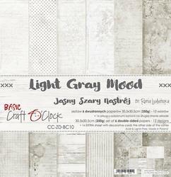 Craft O'clock paperipakkaus Light Gray Mood, 12