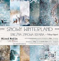 Craft O'clock paperipakkaus Snowy Winterland, 12