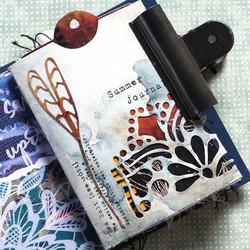 Elizabeth Craft Designs Art Journal stanssi Butterfly Pocket Insert