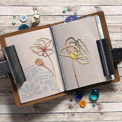 Elizabeth Craft Designs Art Journal stanssi Floral Insert