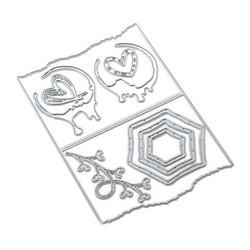 Elizabeth Craft Designs Art Journal stanssi Decorative Insert