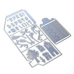 Elizabeth Craft Designs Art Journal stanssi Winter Home Pocket