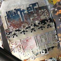 Elizabeth Craft Designs Art Journal stanssi Cubic Background