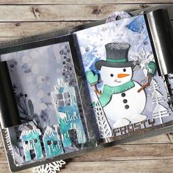 Elizabeth Craft Designs Art Journal stanssi Snowy Windows