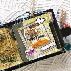 Elizabeth Craft Designs Art Journal stanssi Polaroid Page