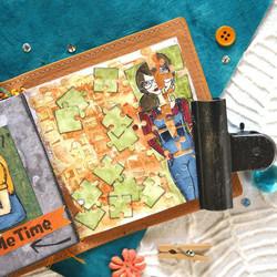 Elizabeth Craft Designs Art Journal stanssi Puzzle Page