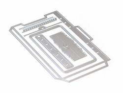 Elizabeth Craft Designs stanssi Planner Essentials 22 Planner Pocket 3, Top Loading