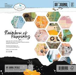 Elizabeth Craft Designs Rainbow of Happiness -paperipakkaus, 12
