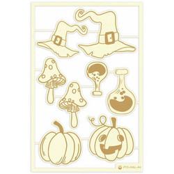 P13 Light Chipboard -koristeet Happy Halloween