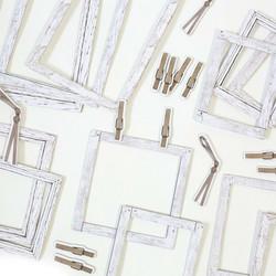 49 and Market leikekuvat Vintage Artistry Essentials Frames & Bits, Whitewashed