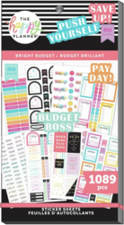 Mambi Happy Planner Value Pack -tarrapakkaus Bright Budget