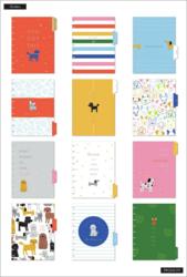Mambi Classic Planner -kalenteri, Colorful Dogs, 12 kk päivätty