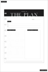 Happy Planner Block Pad -paperipakkaus, The Plan
