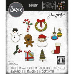 Sizzix Thinlits stanssi Christmas Minis