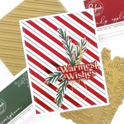 Pinkfresh Studio Hot Foil -kuviolevy Diagonal Stripes