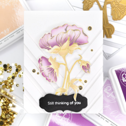 Pinkfresh Studio Hot Foil -kuviolevy Thankful For Friends