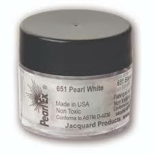 Jacquard Pearl Ex -pigmenttijauhe, sävy Metallics, Pearl White