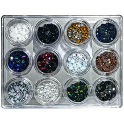 Buttons Galore Jewelz -tekokristallit, Neutral