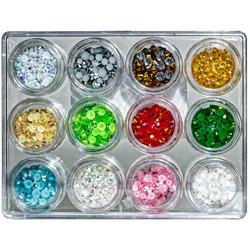 Buttons Galore Jewelz -tekokristallit, Holiday