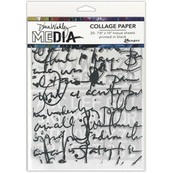 Dina Wakley Media Collage Tissue -paperipakkaus Text Collage