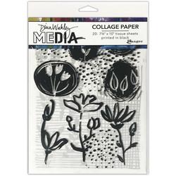 Dina Wakley Media Collage Tissue -paperipakkaus Things That Grow