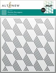 Altenew Illusion Hexagons -sapluuna