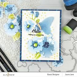 Altenew Impressionist Bouquet -sapluuna