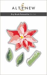 Altenew Dry Brush Poinsettia -stanssisetti