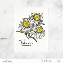 Altenew Paint-A-Flower: White Swan Echinacea -leimasinsetti