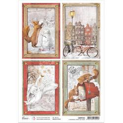 Ciao Bella riisipaperi Memorable Snowy Day, Cards