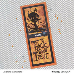 Whimsy Stamps Trick or Treat House -leimasinsetti